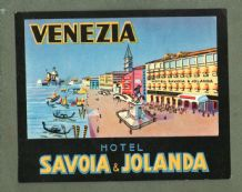 Collectable Hotel luggage label  ITALY Jolanda Venezia #553